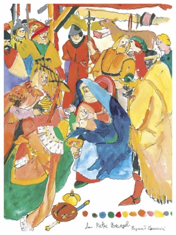 Adorazione dei magi da Pieter Bruegel - Eugenio Comencini